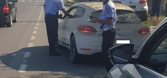 Reținut în trafic:mașină neînmatriculată și fără permis.