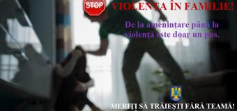 Tânăr reținut de polițiști după ce și-a agresat concubina