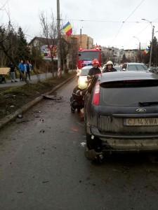 Accident rutier - str Plopilor - Cluj-Napoca