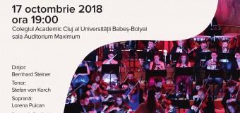 17 octombrie 2018 – Concert aniversar la Cluj-Napoca – 175 de ani de la înființarea corului bărbătesc din orașul înfrățit Köln