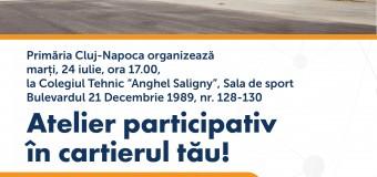 Atelier participativ, parte a procesului de bugetare participativă, în cartierul Mărăşti. Află detalii.