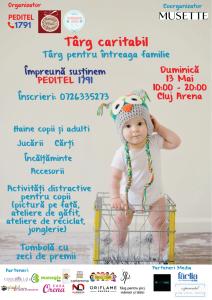 Afis_Targ_Caritabil_Peditel_13mai_ClujArena