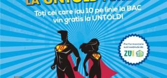 UNTOLD Festival premiază elevii cu rezultate bune la BAC