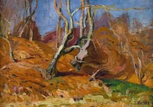 Dóczyné Berde Amál (1886-1976) farkaspatak (42x57 cm, olaj, farost, 1926) Kiáll, repr- Budapest_NAGYBÁNYA_BAIA MARE_B