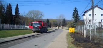 Au fost reluate lucrările de modernizare a drumului județean 107P (DN 1) Gilău – Someşul Rece – Mărişel – DN 1R