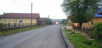 A fost finalizată așternerea primului strat de asfalt pe drumul județean 109A, pe raza localității Panticeu