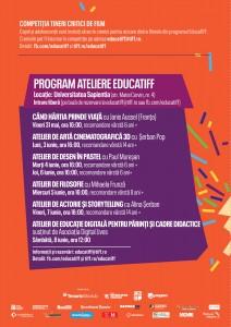 EducaTIFF 2019 program ateliere