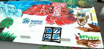 Atelier de pictat căsuțe de carton în scop caritabil