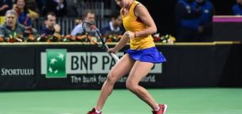 Victorie pentru Simona Halep în cea de a doua zi a Fed Cup România- Cehia: 2-1