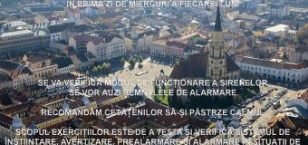 Primăria Cluj-Napoca anunță exercțiu de alarmare publică – miercuri, orele 10.00-11.00