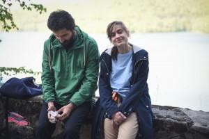 Irina Radulescu si Marin Grigore_filmari Vidraru.