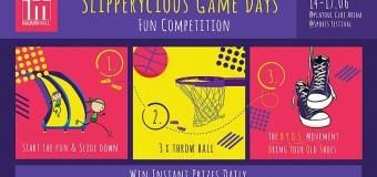"IULIUS MALL TE INVITĂ LA ""SLIPPERYCIOUS GAME DAYS"", COMPETIȚIE AMUZANTĂ, PE PLATOUL CLUJ ARENA"