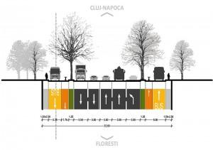 PUZ SRUC 1 - profil transversal drum acces