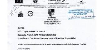 Prefectul îi răspunde lui Tișe: decizia amânării stării de alertă la Pata Rât s-a realizat la solicitarea Consiliului Județean Cluj