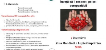 Campanie AntiSIDA la Cluj-Napoca în perioada 26-27 noiembrie 2014