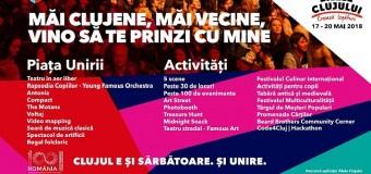 Zilele Clujului 2018 – Programul zilei a doua – vineri, 18 mai