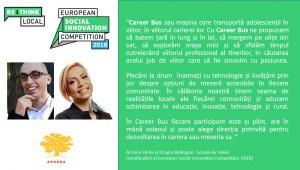 Semifinaliști români - Career Bus