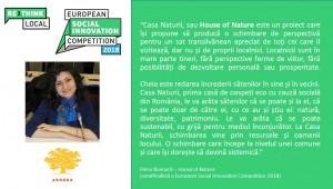 Semifinaliști români - House of Nature