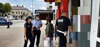 Polițiștii în acțiuni pentru prevenirea infectării cu Covid-19.