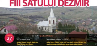 Sărbători ale fiilor satului şi ale portului popular, în week-end, la Gădălin, Jucu, Dezmir şi Cătina