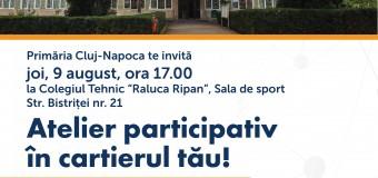 Atelier participativ în cartierul Gheorgheni
