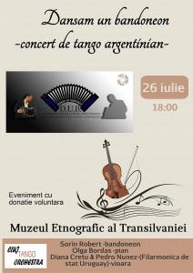 afis concert tango 26 iulie