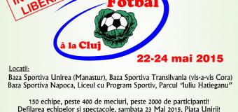 « Fotbal à la Cluj » ediţia II-a. 140 echipe din România şi din Republica Moldova au confirmat prezenţa