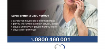 Telefonul Vârstnicului – linie telefonică gratuită și confidențială pentru persoanele de vârsta a treia