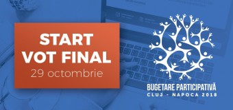 """A început votul final pentru """"Bugetare participativă Cluj-Napoca 2018"""""""