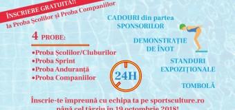 """""""Toți pentru înot și înot pentru toți!"""" – deviza care spune tot despre Sărbătoarea înotului  organizată la Cluj-Napoca în perioada 3 – 4 noiembrie 2018"""