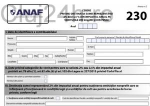 anaf formular 230