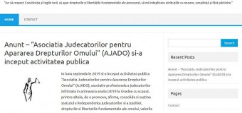 """""""Asociatia Judecatorilor pentru Apararea Drepturilor Omului"""" (AJADO) si-a inceput activitatea publica"""