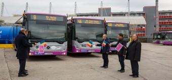 30 de autobuze Mercedes cu dotări de ultimă generație au fost puse în circulație azi la Cluj-Napoca