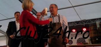 [Foto&Video] Boc a dat cep la un butoi cu bere în deschiderea oficială a Festivalului de Toamnă al Economiei Germane