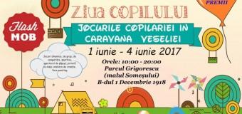 Caravana Veseliei readuce jocurile copilăriei.  Vezi ce au mai pregătit organizatorii de Ziua Copilului.