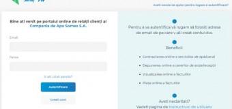 """Noi facilități on-line pentru clienții Companiei de Apă """"Someș""""."""