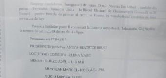 Floreşti: Candidatura de primar a chirurgului Dan Nicolau a fost respinsă. PRU are candidaţi doar la Consiliul Local.