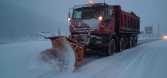 Ninsoarea căzută în cursul nopții nu a cauzat închideri de drumuri județene pe raza județului Cluj
