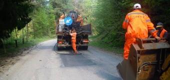 Se execută lucrări de întreținere pe drumul județean 107P Gilău (DN1) – Someşu Rece – Someşu Cald – Mărișel