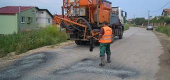 Consiliul Județean a demarat, azi, lucrări de întreținere pe drumul judeţean DJ 109A Chinteni