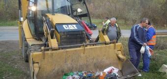 O nouă acțiune de ecologizare derulată de Consiliul Județean în zona lacului Tarniţa