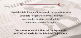 Dezbatere publică:FINANȚAREA ÎN MASS-MEDIA CLUJEANĂ