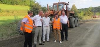 Lucrări de reabilitare la drumul judeţean 109 C Gherla-Fizeşu Gherlii-Ţaga au fost finalizate