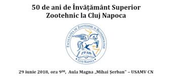 """Facultatea de Zootehnie și Biotehnologii din cadrul USAMV Cluj-Mapoca aniversează 50 de ani. Ceremoniile vor include și acordarea a două titluri """"Profesor Honoris Causa"""""""