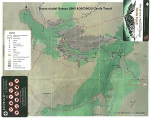 harta Sit Natura 2000 Cheile Turzii