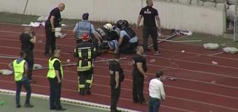 Persoana care a lovit cu un scaun în cap un jandarm pe Cluj Arena a fost depistată și ridicată de polițiști. Este din Florești.