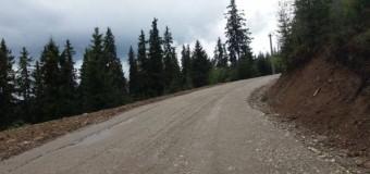 Se execută lucrări de modernizare a drumului judeţean ce leagă staţiunea Băişoara de  Muntele Mare şi pârtia de schi Buscat