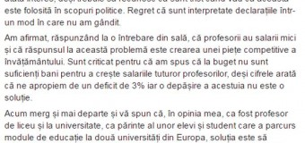 Tinerii social democrați cer demisia lui Bostan. Ministrul se apără cu un mesaj pe Facebook.