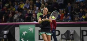 Fed Cup România- Cehia: 2-2. Niculescu a pierdut în faţa Karolinei Pliskova