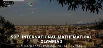 8 iulie: festivitatea de deschidere a Olimpiadei Internaționale de Matematică 2018